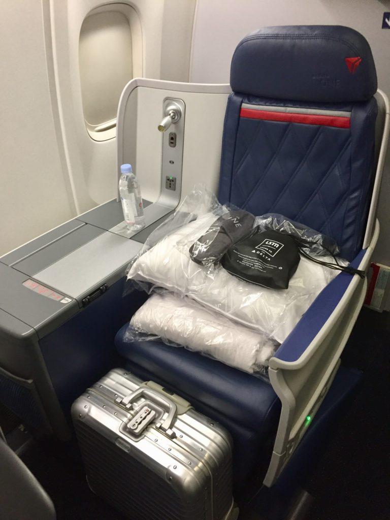 デルタ航空ビジネスクラスシート