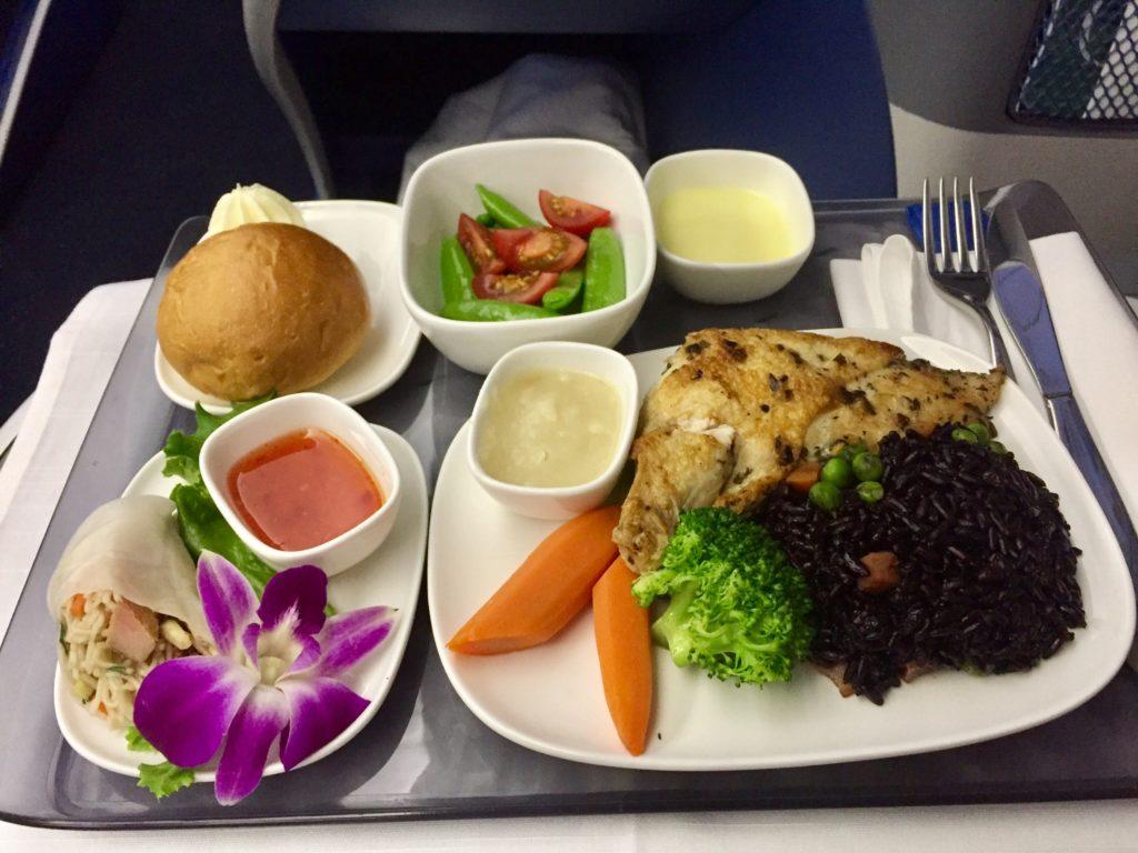 デルタ航空ビジネスクラスハワイ線食事