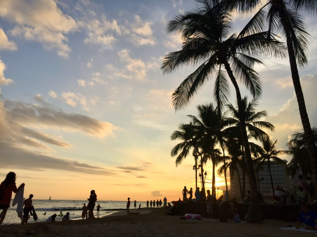 ハワイで仕入先と打合せ ワイキキをブラブラ散歩